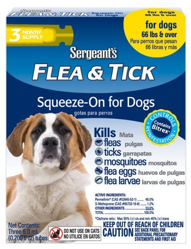 Sergeants flea and tick squeeze on for dogs