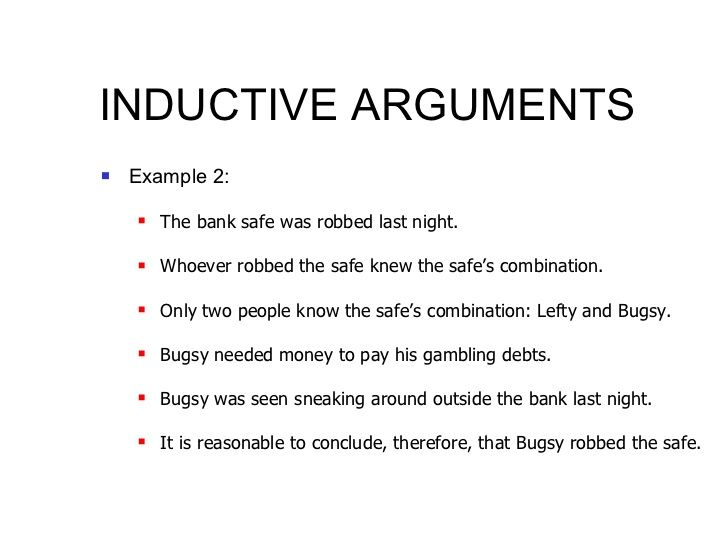 Inductive Or Deductive Reasoning Inductive Reasoning Examples