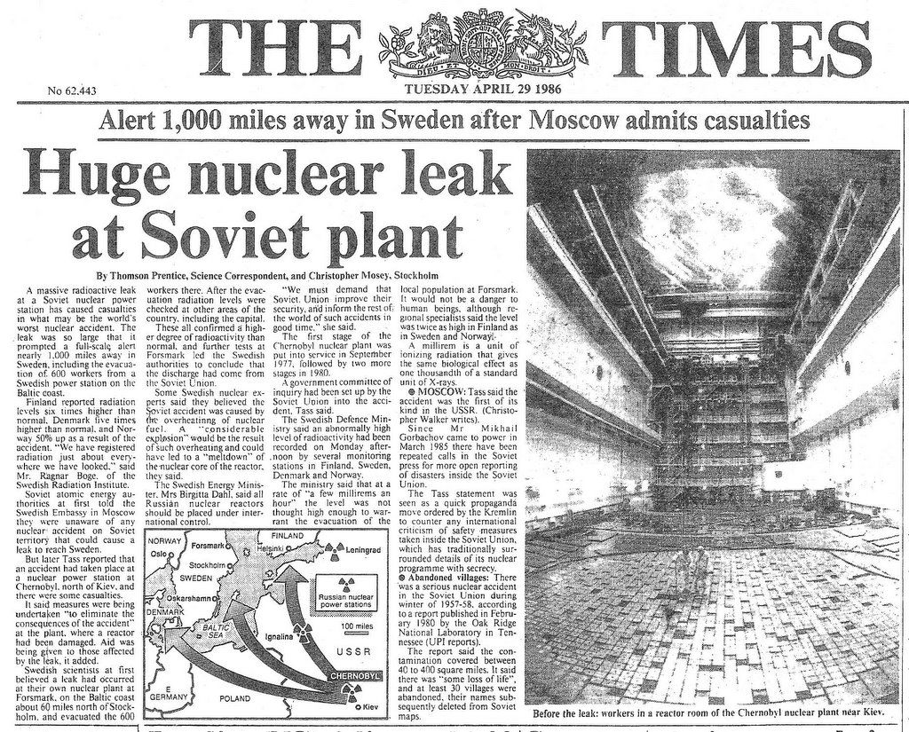 Image result for chernobyl nuclear accident in 1986