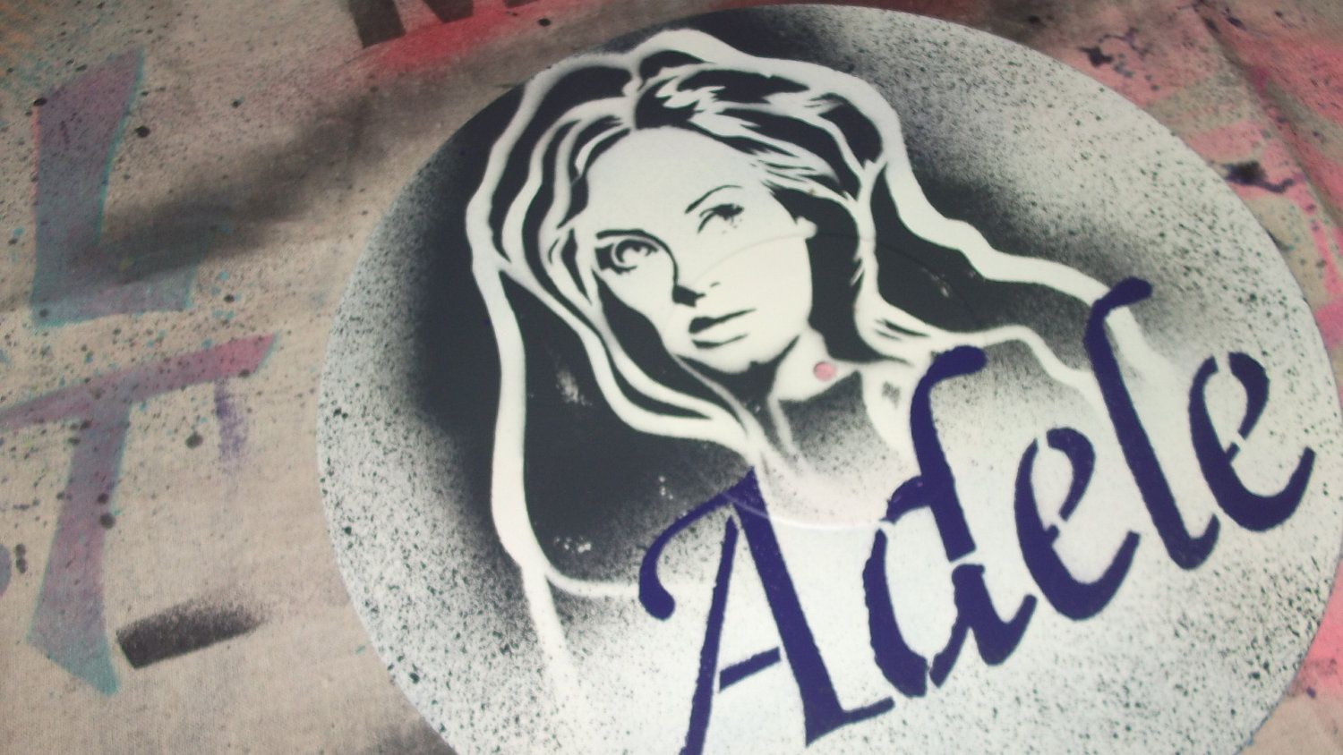 Adele Vinyl Record Art Portrait Painting By