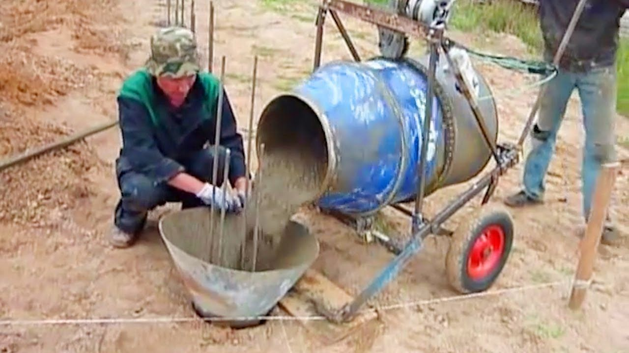 Homemade Inventions 2018 2 5 Best Diy Cement Mixer Machine In Action Amazing Ideas Homemade Electric Manual Con Concrete Mixers Cement Mixers Inventions