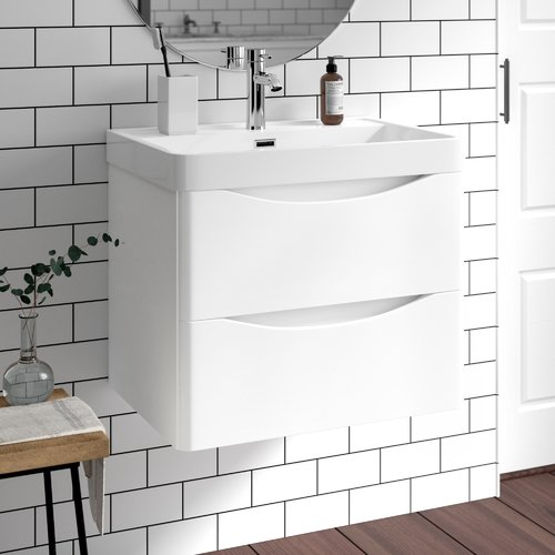 Belfry Bathroom Yair 600mm Wall Mount Vanity Unit Bathroom