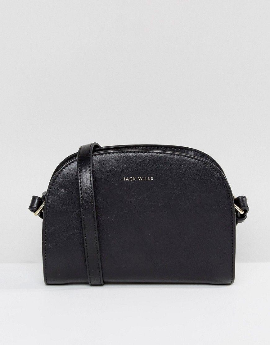 Jack Wills Leather Credit Card Holder Black