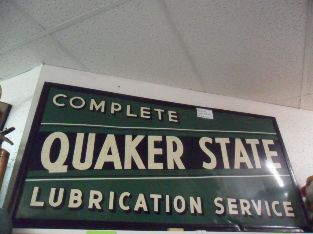 Cool old Quaker State Sign!