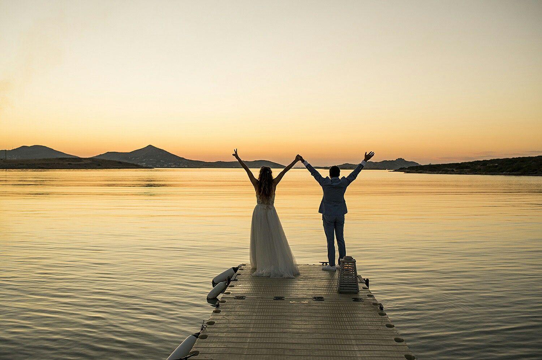 Destination wedding in Paros island Greece