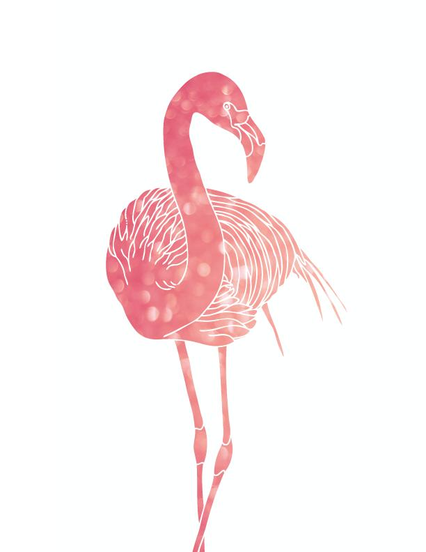 Freebies pink flamingo printables creazioni for Fenicottero arredamento