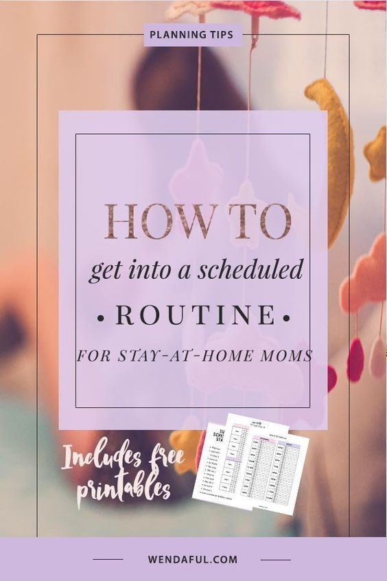 To Get Into A Scheduled Routine for Stay at Home Moms Be sure to sign up at the bottom of this post to get your FREE printable daily schedules and routines + a quick checklist with the best tips to get started on a scheduled routine as a stay at home mom! It's difficult to have a smooth daily schedule when you have babies and toddlers....Read More