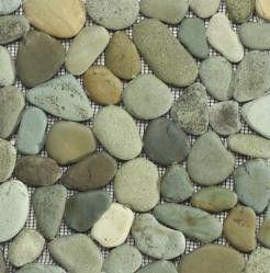 zen pebble rock tile sheet - flores green