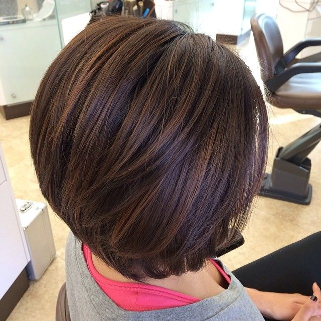 Rich Caramel Balayage Highlights Hair Hair Color Short
