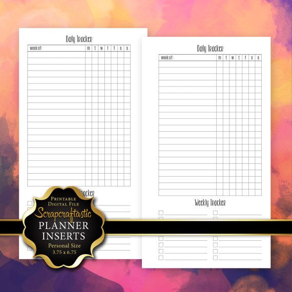 daily habit task tracker planner printable by scrapcraftastic