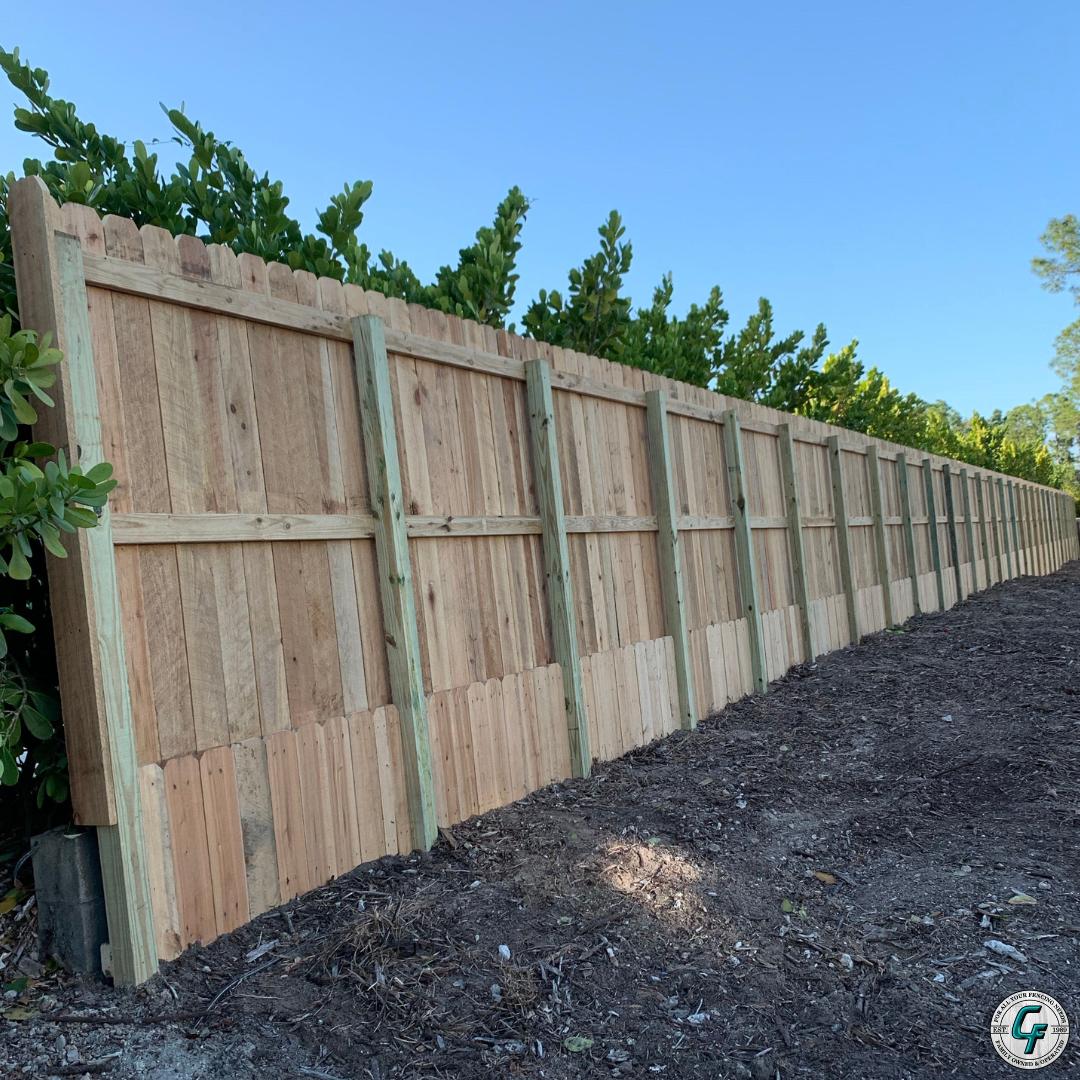 Alternating Boards Wood Fence 503 760 7725