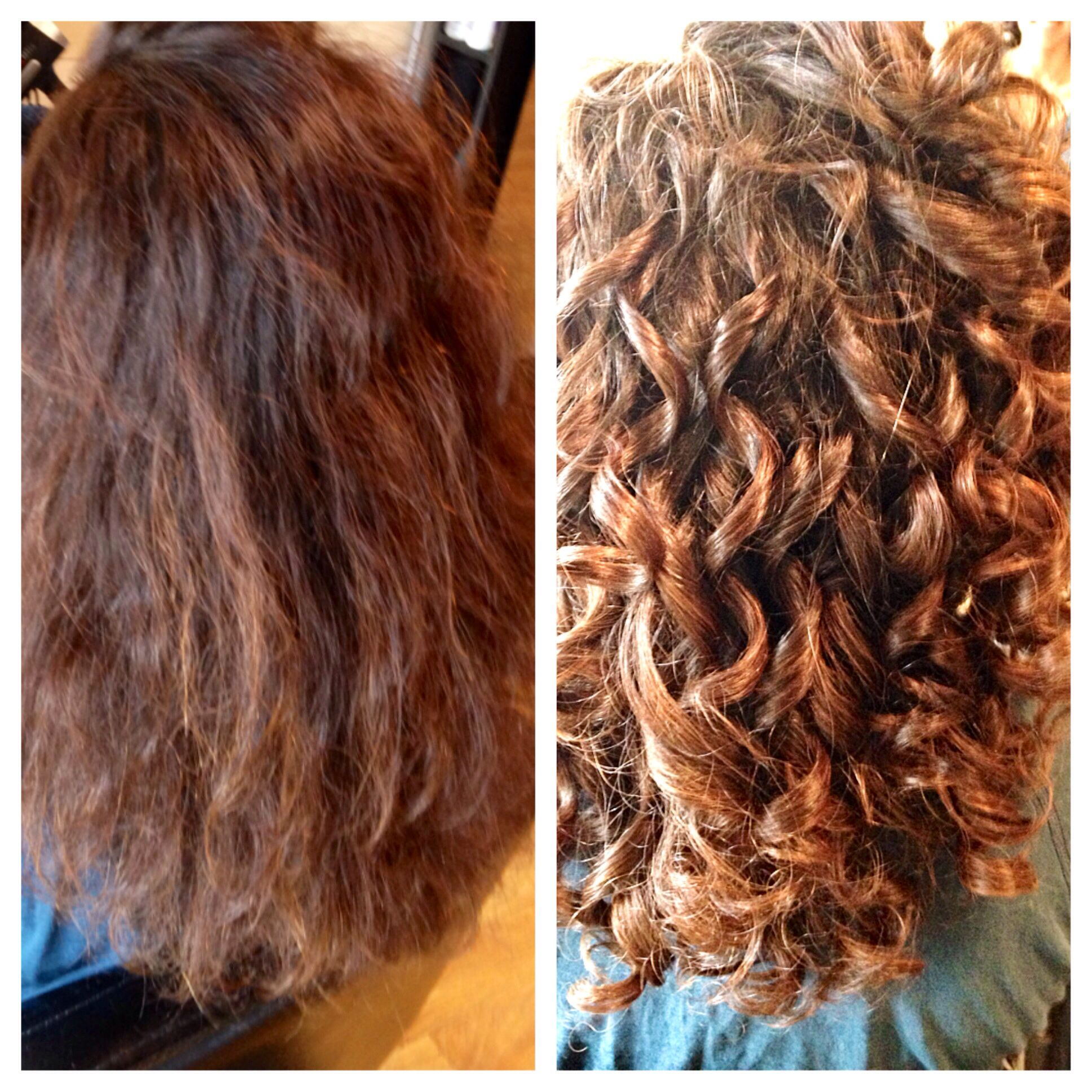 Before and after the curling tool by probliss super cute and so do
