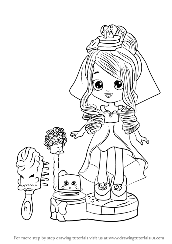 Shoppie Doll Daisy Petals Coloring Pages