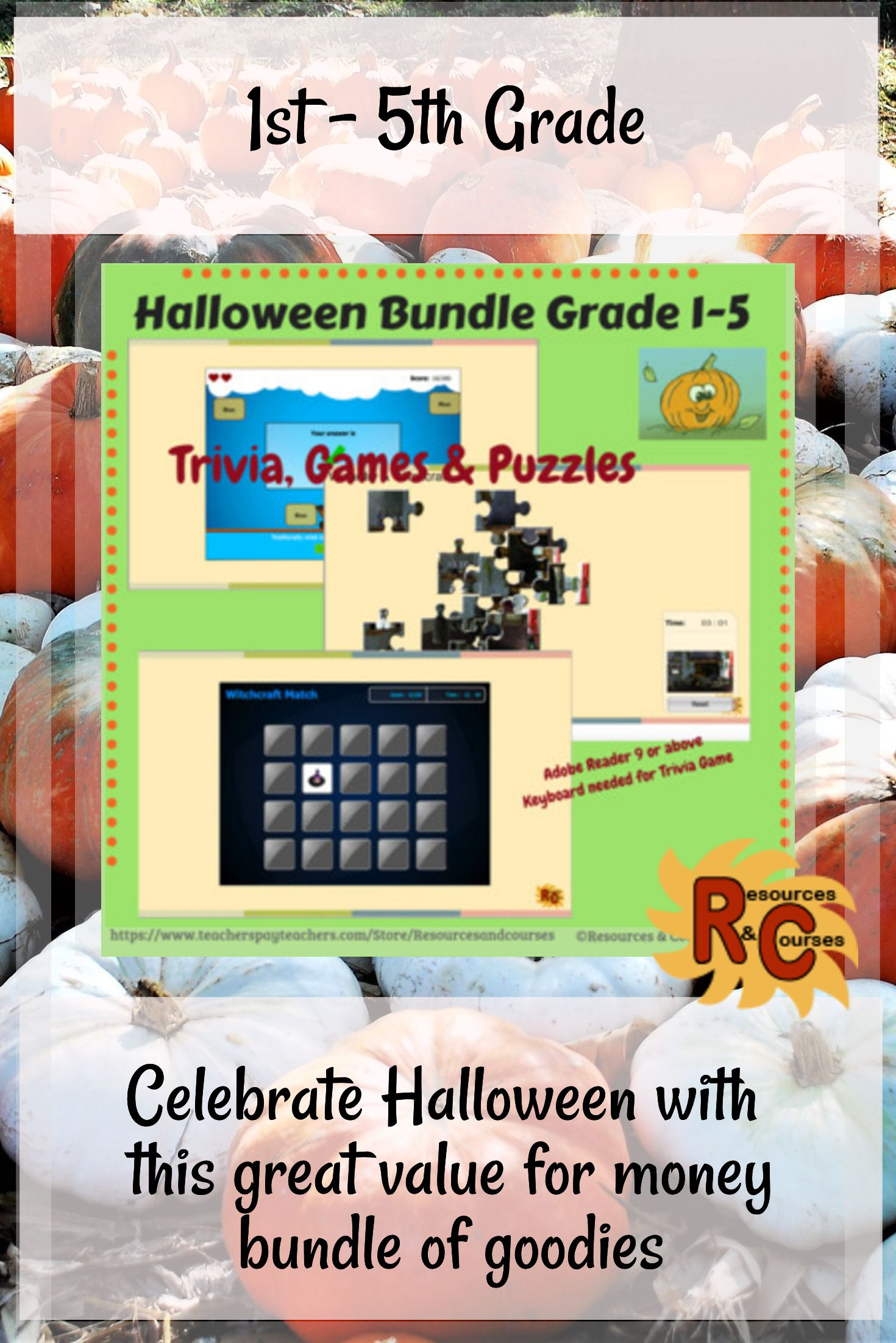 Halloween Bundle Of Interactive Games Amp Puzzles For First