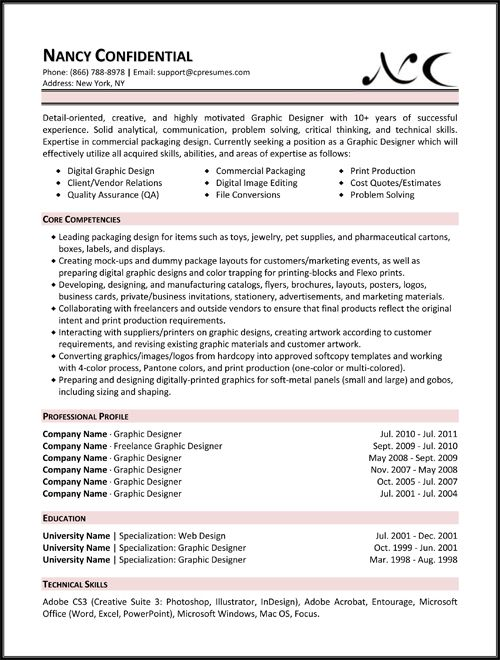skill based resume examples Functional (Skill-Based) Resume - graphic design resume objective
