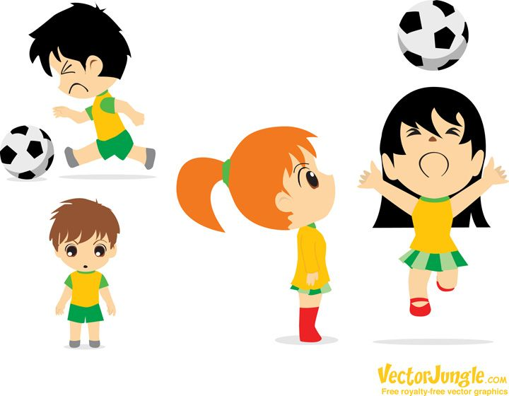 vector | FREE VECTOR CHIBI SOCCER FOOTBALL PLAYERS | VectorJungle ...