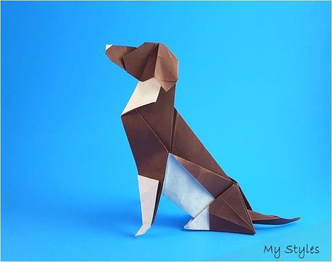 Photo of Origami Beagle von Seth M. Friedman gefaltet von Gilad Aharoni #origami