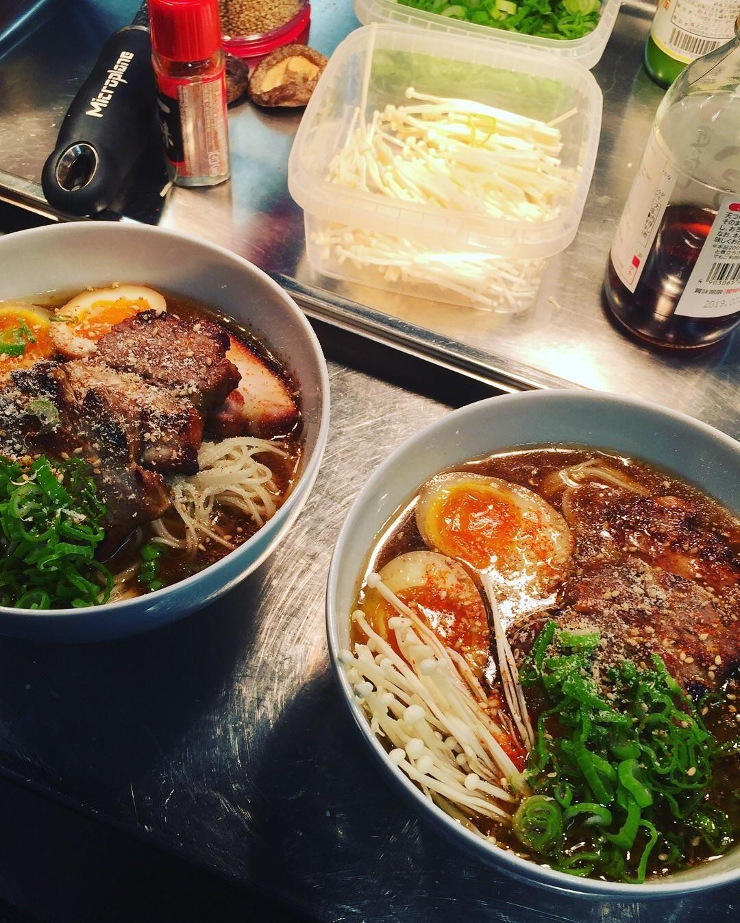 Homemade staff lunch shoyu miso ramen with porkbelly and soy eggs homemade staff lunch shoyu miso ramen with porkbelly and soy eggs food forumfinder Choice Image