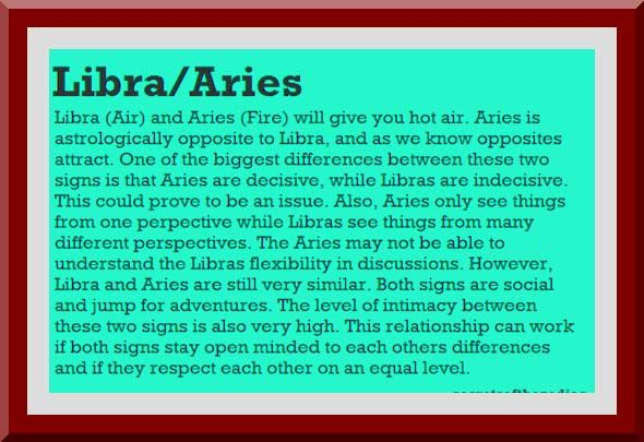 Is libra and aries a good love match