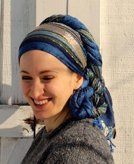 New York Bright, Headband, and Lakeshore Bliss Pashmina in an Artsy Twist