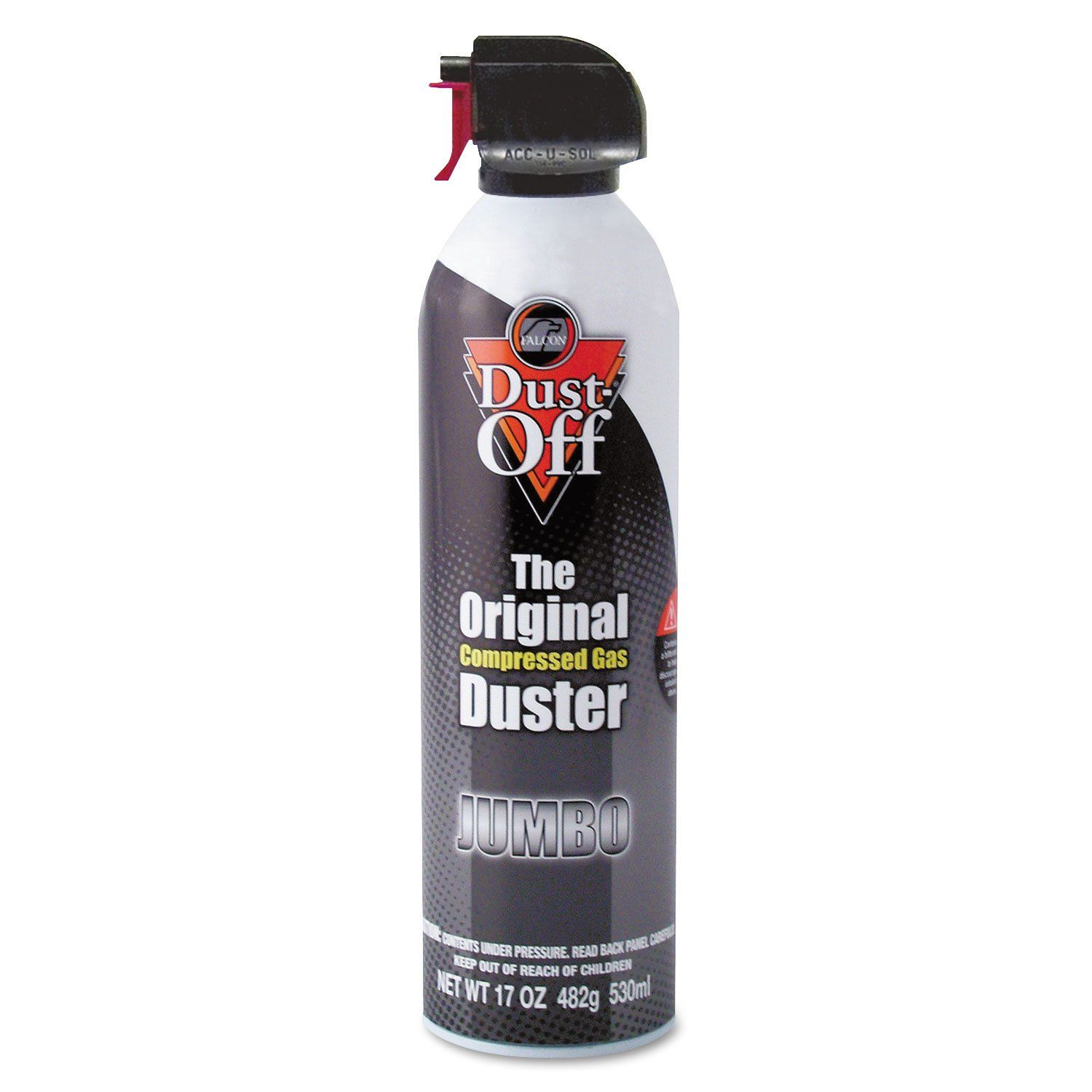 Disposable Compressed Air Duster, 17 Oz Can Gas