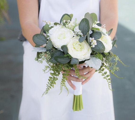 Boho Bouquet, Eucalyptus Bouquet, Rustic Bouquet, Silk Wedding Bouquet, Peony Bouquet, Silk Wedding Bouquet, Real Touch Bouquet, Ranunculus