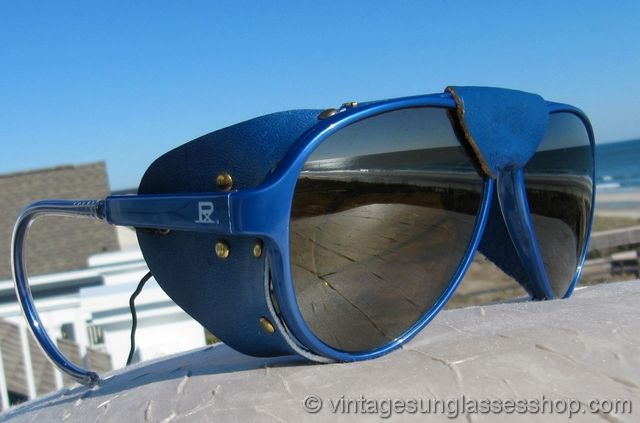 2bb7631b64f Vintage Vuarnet 374 Skilynx Slate Blue Glacier Glasses at the Vintage  Sunglasses Shop