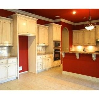 Red Kitchen Walls image result for red kitchen walls with white antiqued cabinets