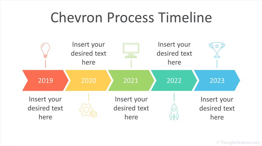 Chevron Timeline Powerpoint Template Powerpoint Templates Powerpoint Templates