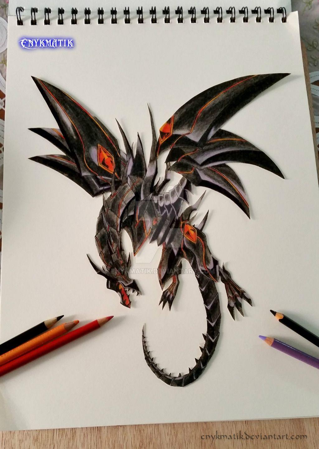 Dragon Oscuro de Ojos Rojos by Enykmatikdeviantartcom on