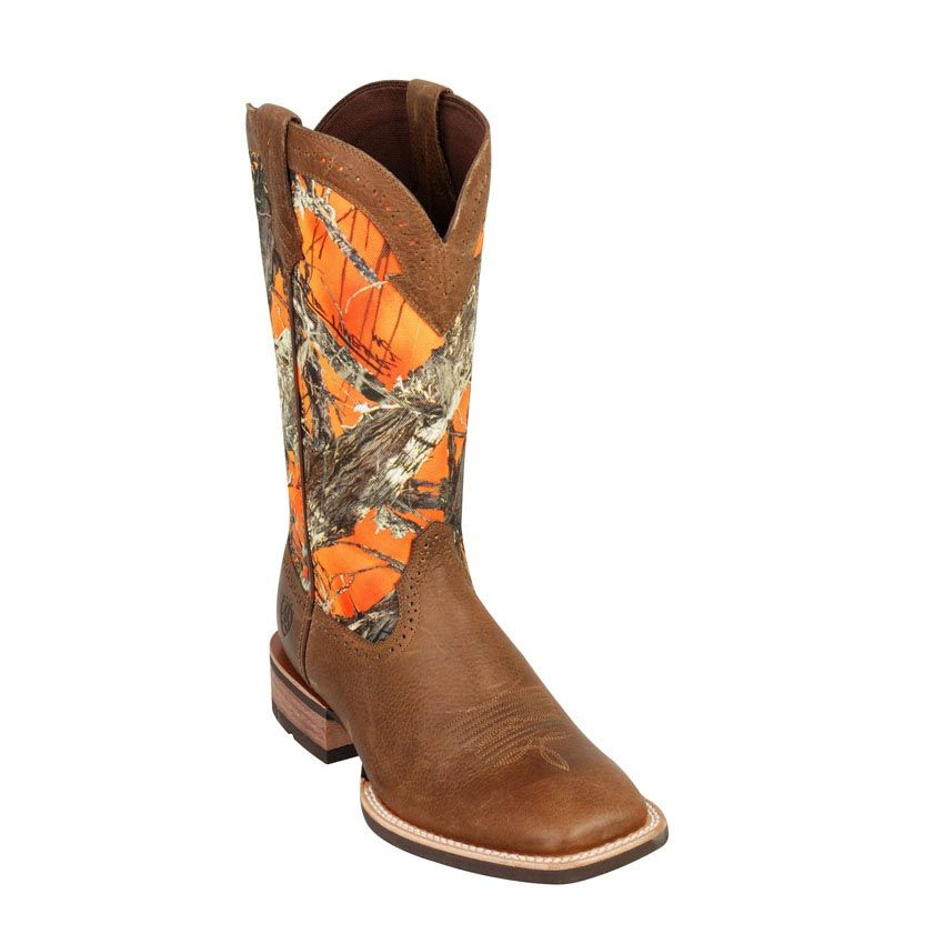 Ariat Men's Quickdraw Western Boots - orange camo | Things I love ...