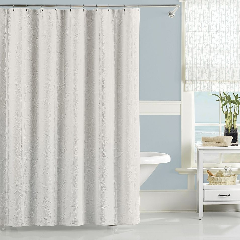 Lamont Home Nepal 54 X 78 Stall Shower Curtain In White Luxury
