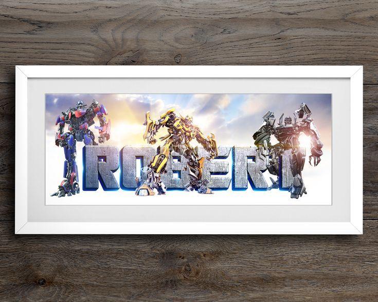 Transformers Custom Name Print / Transformers / Boys Room Decor ...