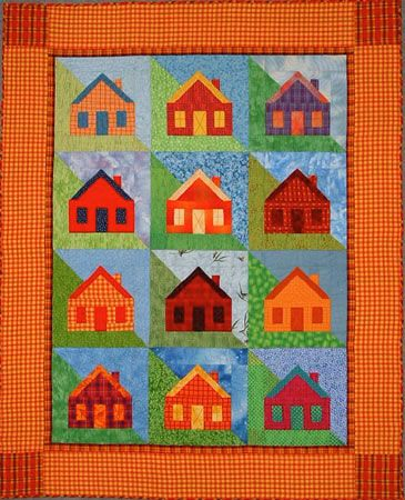 Little Houses on a Hillside Pattern by Ruth Powers