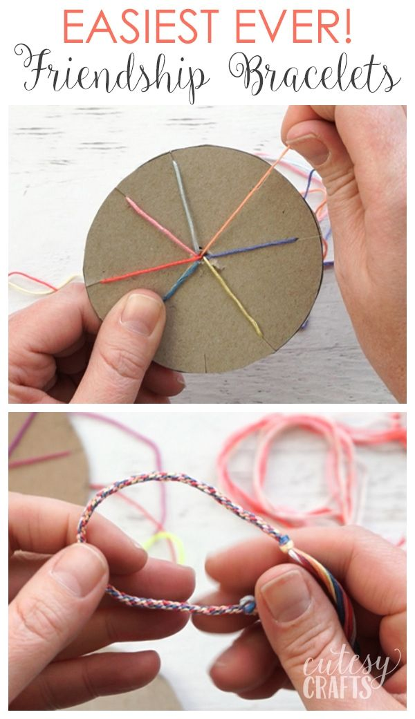 How to Make Friendship Bracelets - The EASIEST way! - Cutesy Crafts