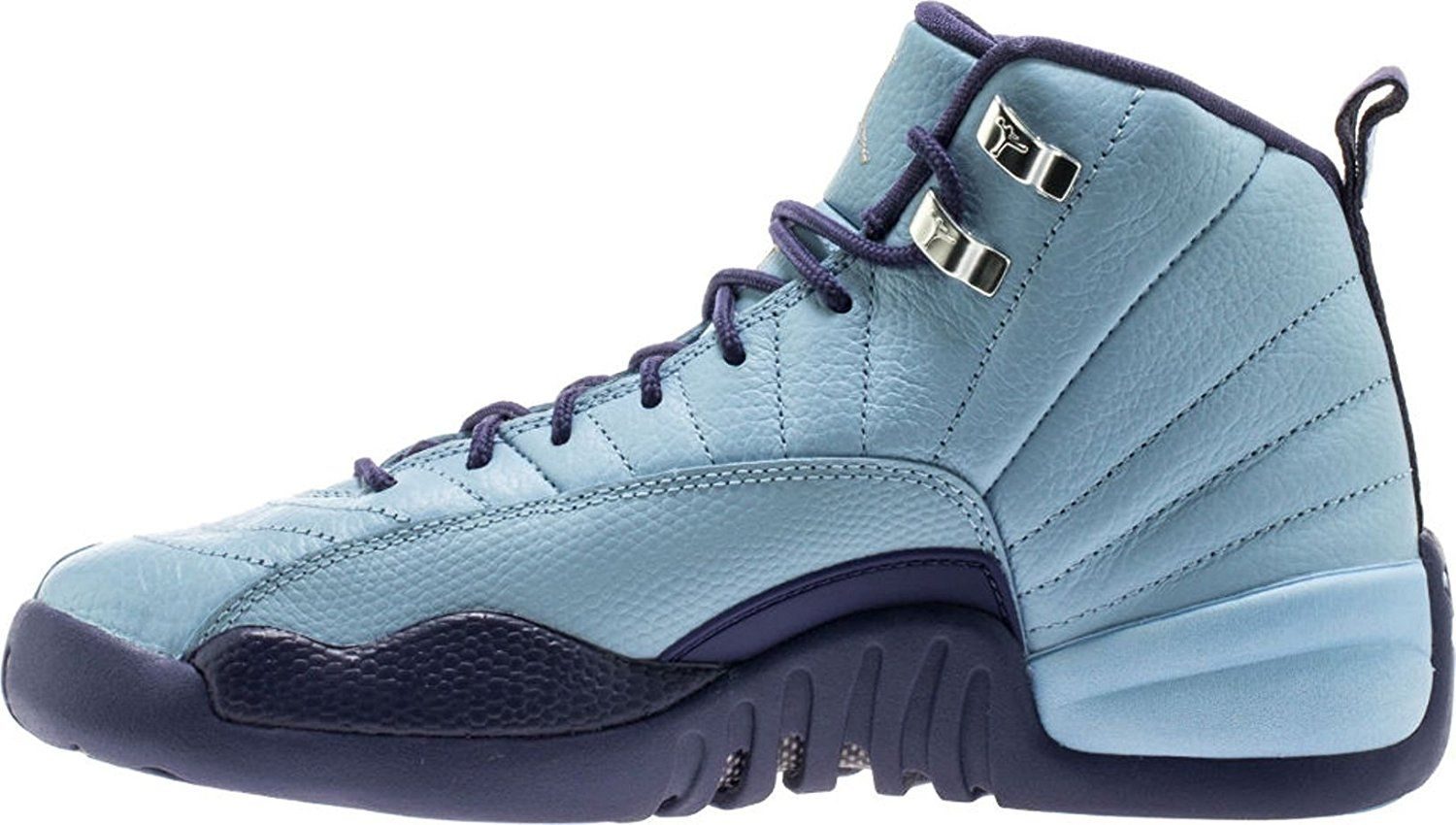 48b5285b3e00da ... coupon for nike air jordan retro 12 hornets gs youth big kids bluecap  dark purple dust