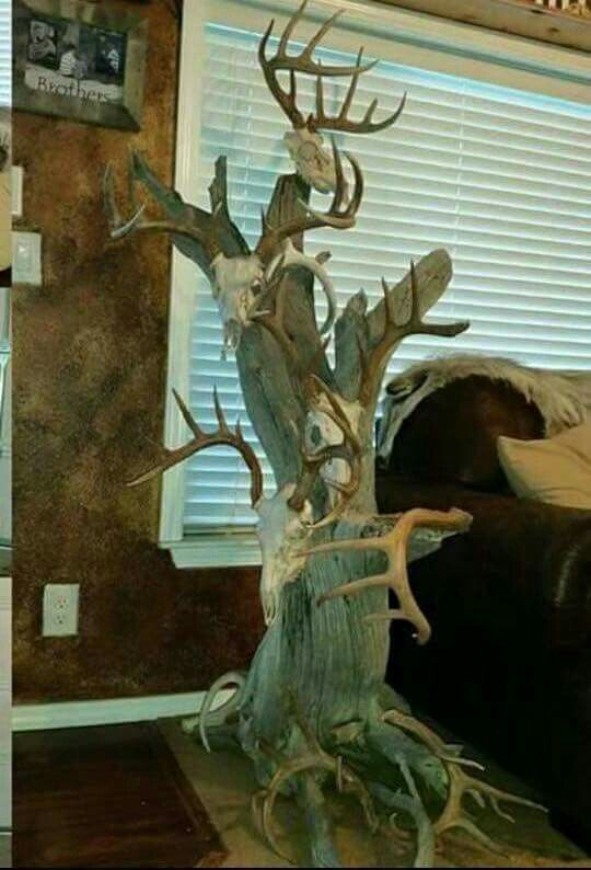 Skull Tree Deer Hunting Decor Hunting Decor