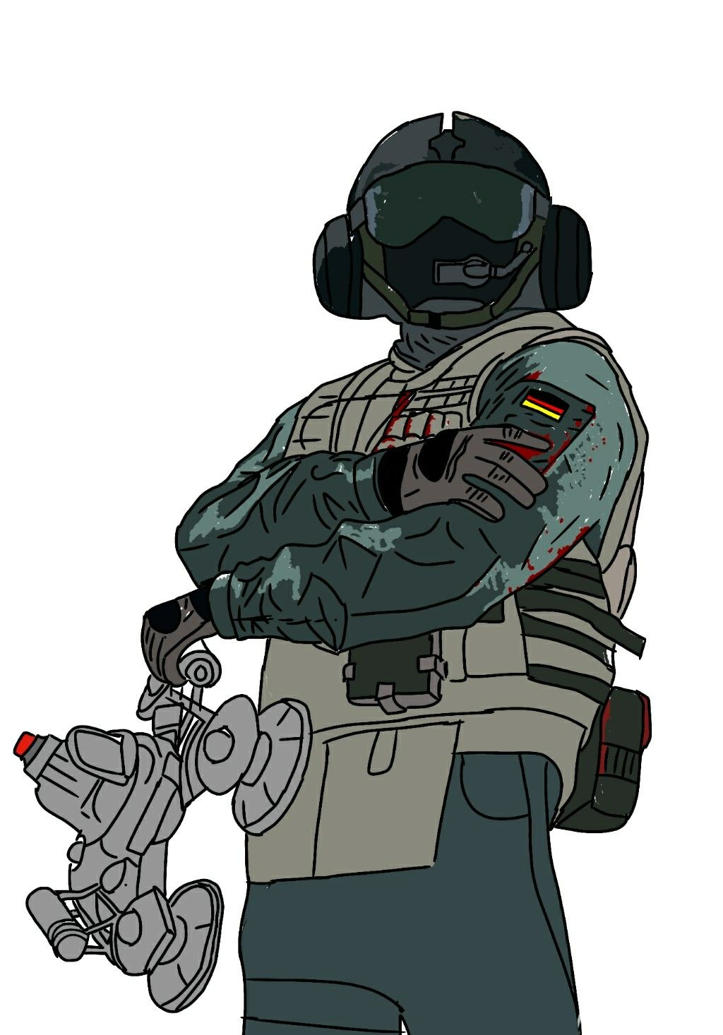Rainbow Six Siege Jager Gsg9 Polizei With Images Rainbow Six
