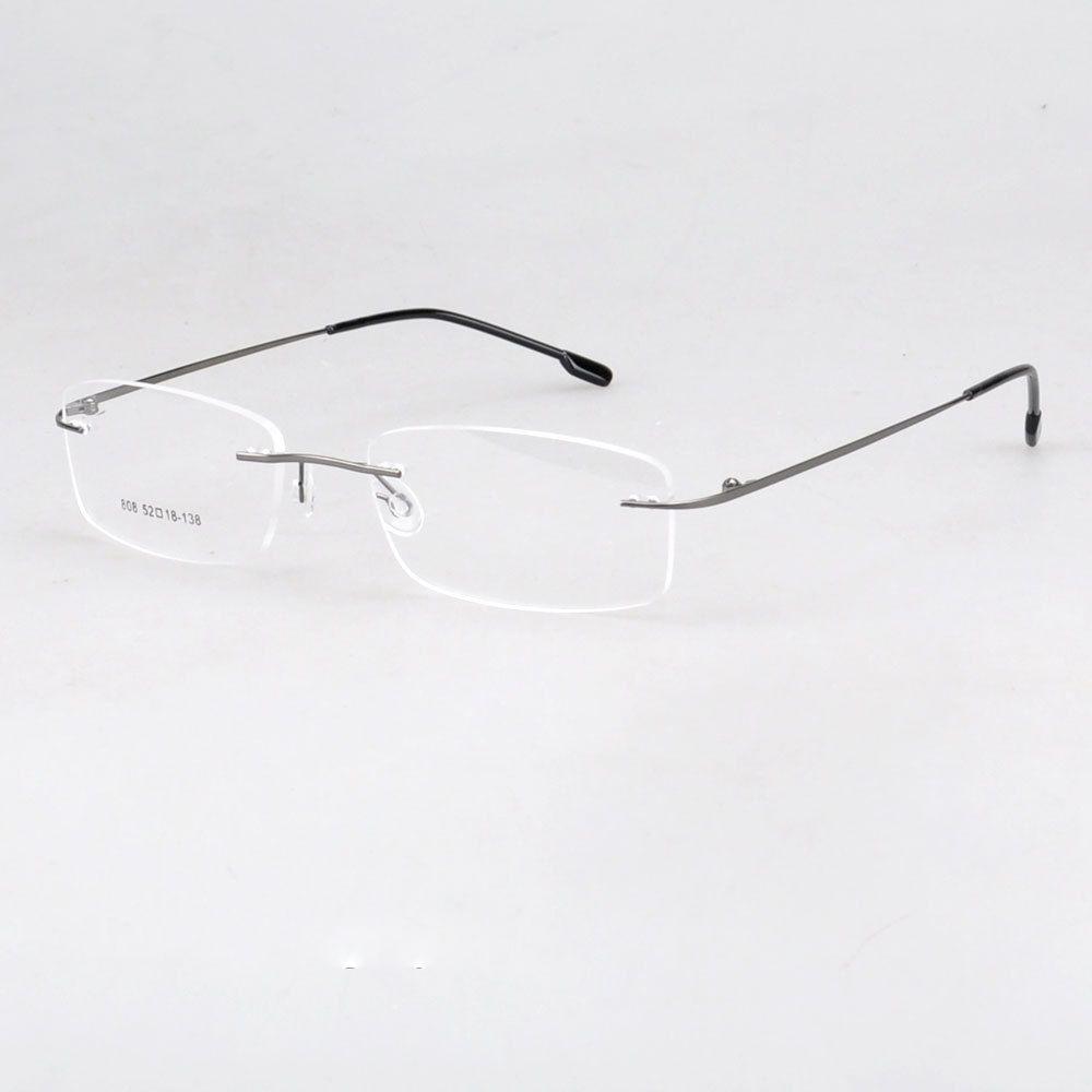 4e9ee73667e 808 wholesale rimless hinged optical frames memory titanium eyeglasses  prescription spectacles Computer Glasses