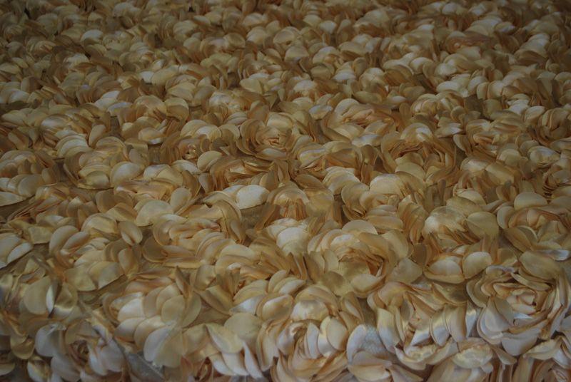 "50 Yards 60/"" Damask Printed Satin Fabric Draping Tablecloth Chair Sash Overlay"