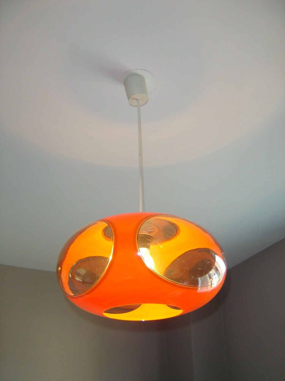 Ancienne Suspension Lustre UFO Hanging Light Luigi Colani Space ...