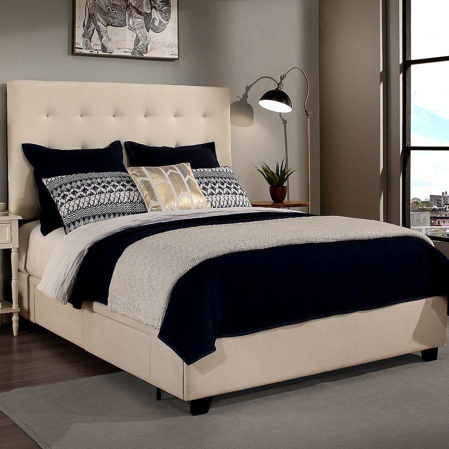 Master bedroom king size bed designs  Manhattan Upholstered Storage Platform Bed  Dream Room Makeover