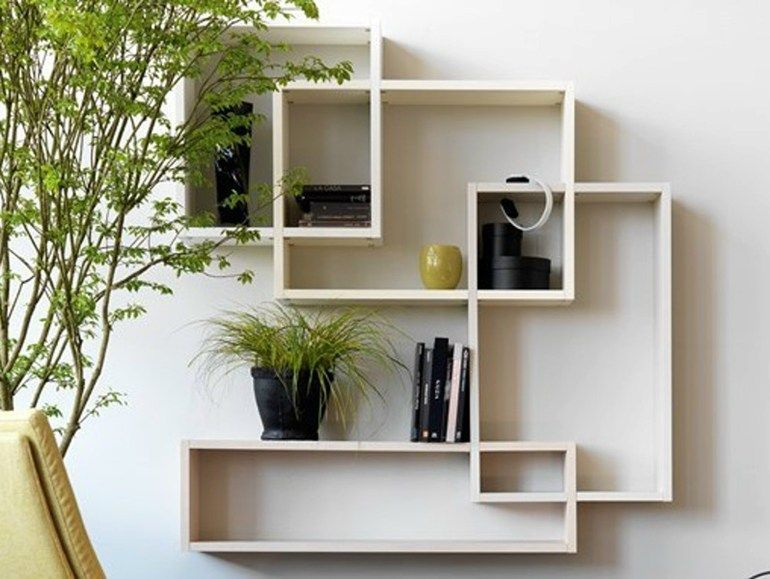 Open floating bookcase CITYLIFE 51 Citylife Collection by Doimo ...