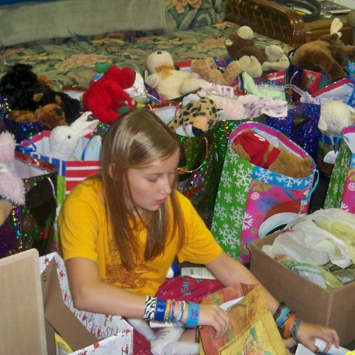 Railey's 12th Birthday Project (the name of her facebook page) Her birthday is Dec. 15th. She is giving up birthday presents to collect gifts to supply Christmas presents for nursing home residents. Spread the word and support her cause <3 This is a picture of her organizing the gifts she collected for her 11th birthday.