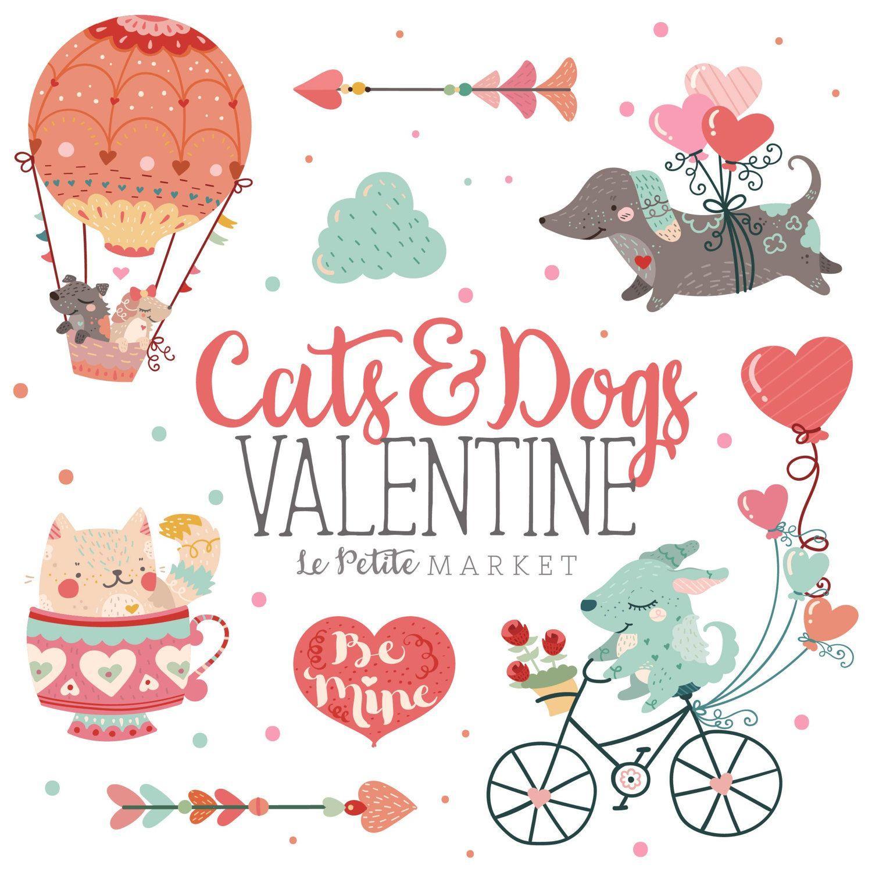 15+ Cute Animal Valentine Day Clipart