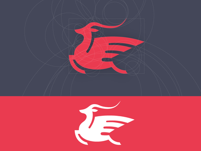 Flying Gazelle Symbol Symbols Logos And Design Inspiration