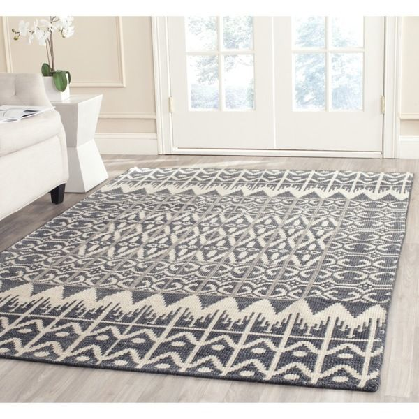 Safavieh Hand-knotted Kenya Charcoal Wool Rug (4' x 6') - Overstock™ Shopping - Great Deals on Safavieh 3x5 - 4x6 Rugs