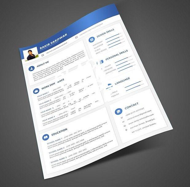 Free Blue Material Design Resume Mockup Psd Titanui Resume Design Resume Mockups Material Design