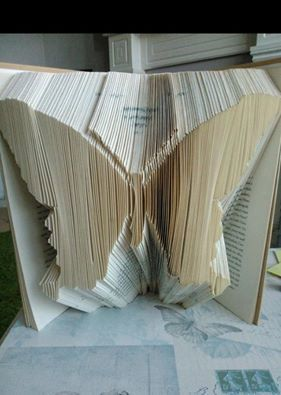 Butterfly Folded Book Art **Pattern** and instructions PDF