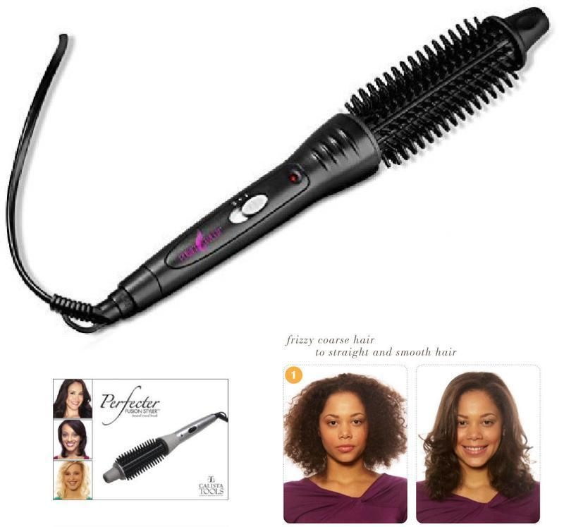Hairstyler New New  Perfecter Fusion Hair Styler Pro Grip Hot Round Brush Heated